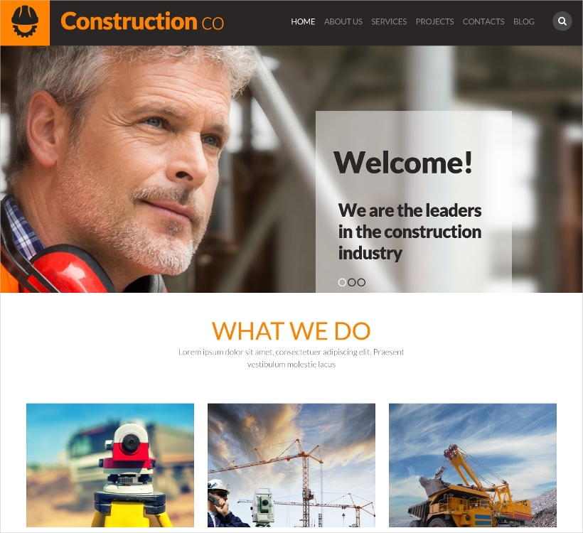 construction business wordpress theme