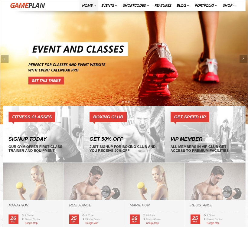 event gym fitness wordpress theme2