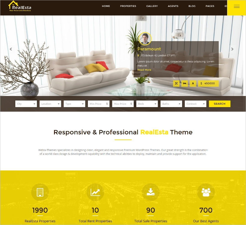 real estate agency wordpress theme1