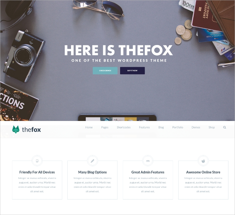 thefox multi purpose wordpress theme