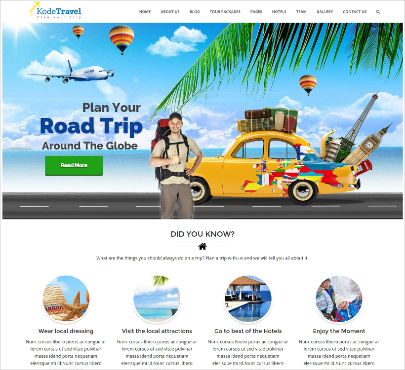 Travel & Tourism WordPress Theme