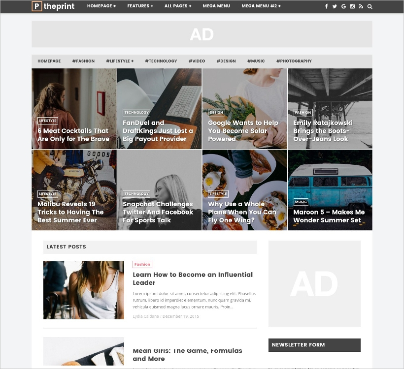 WP Theme for Magazines & Simple Blogs