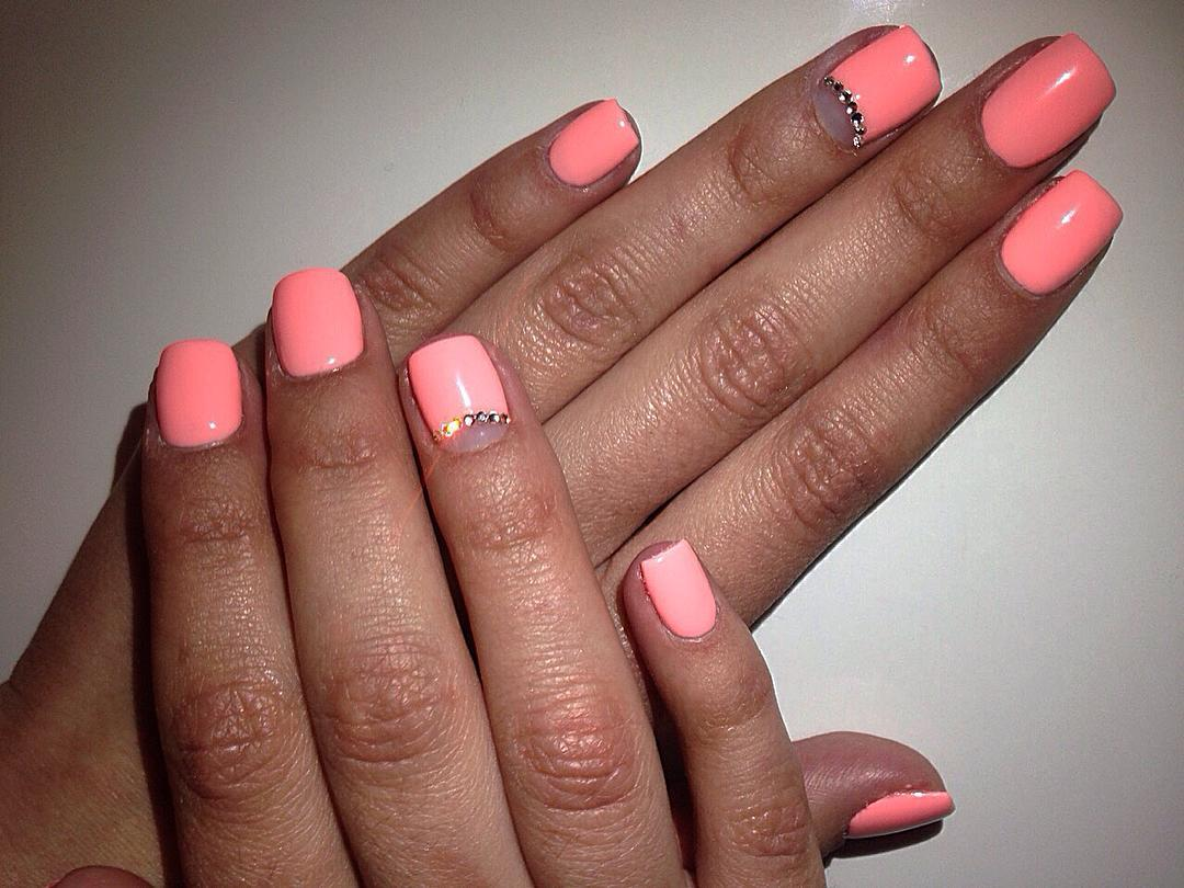 21 Peach Nail Art Designs Ideas Design Trends Premium Psd