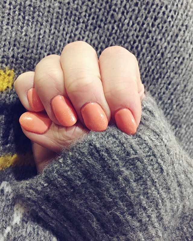 Peach Colored Nail Art