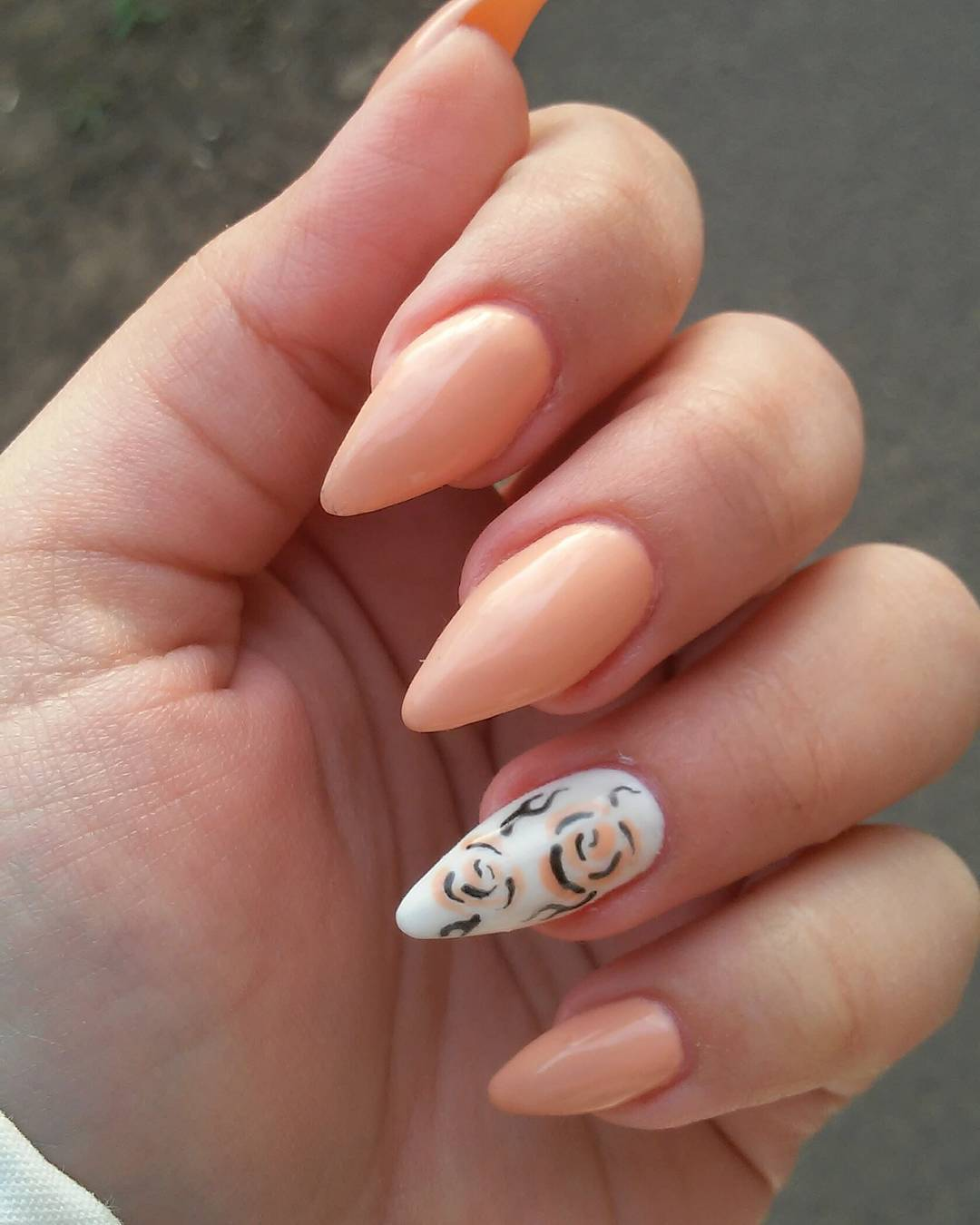 Nail Art Ideas: 21+ Peach Nail Art Designs, Ideas