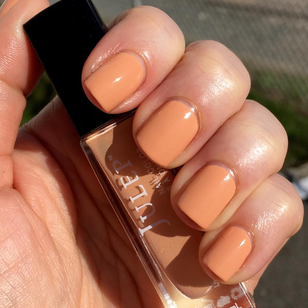 Simple Peach Nails