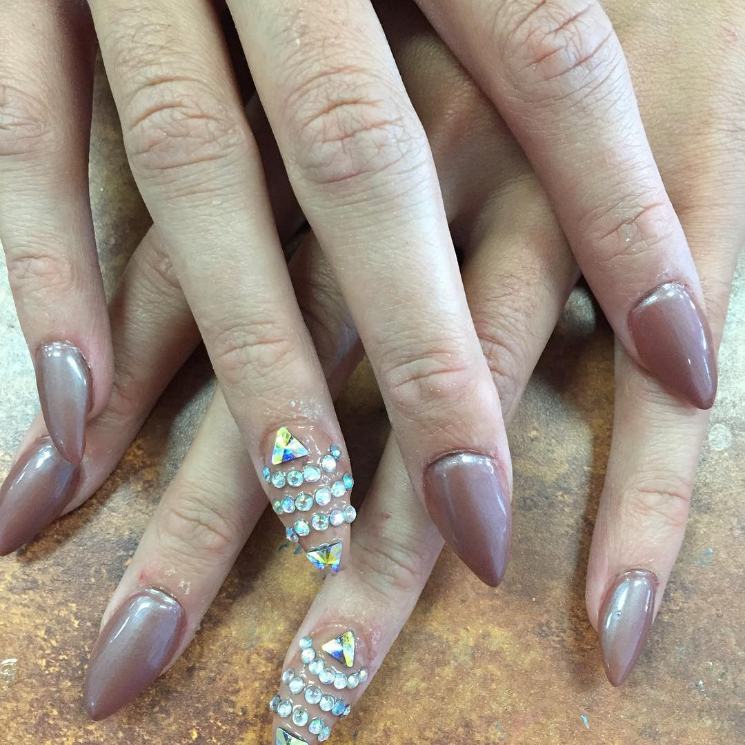 21+ Pointed Nail Art Designs, Ideas | Design Trends ...