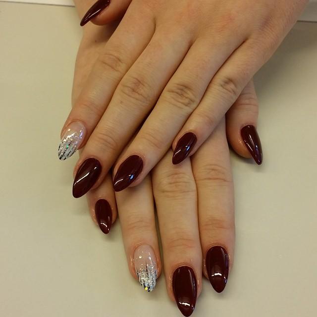 pretty pointy nail design