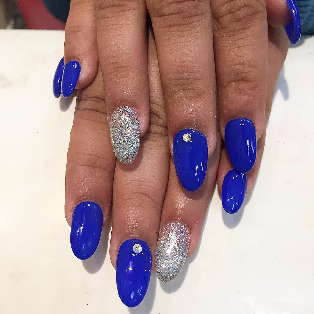 21 royal blue nail art designs ideas design trends premium glitter blue nail polish prinsesfo Gallery