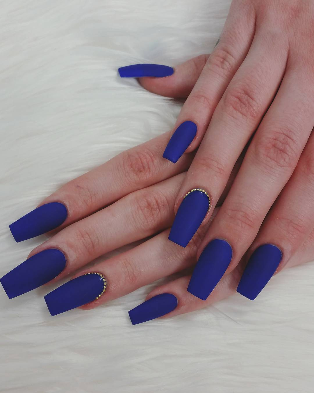 21+ Royal Blue Nail Art Designs, Ideas
