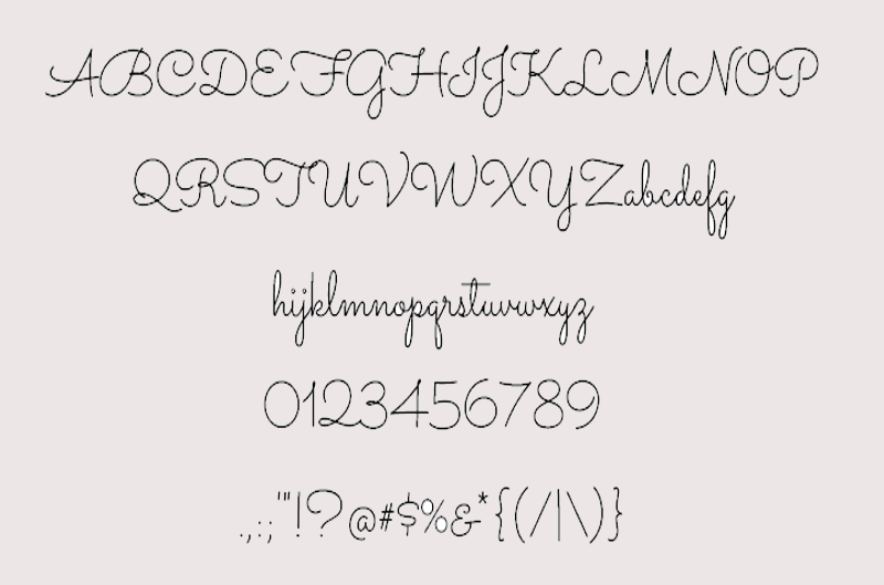 monolined girly font