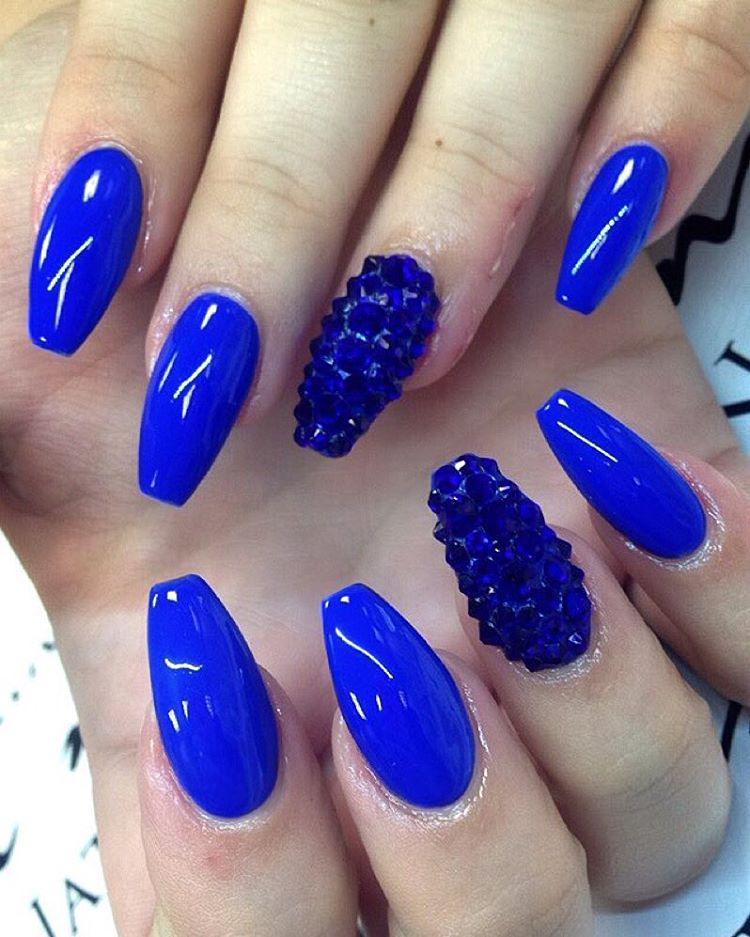 21 Royal Blue Nail Art Designs Ideas Design Trends Premium Psd