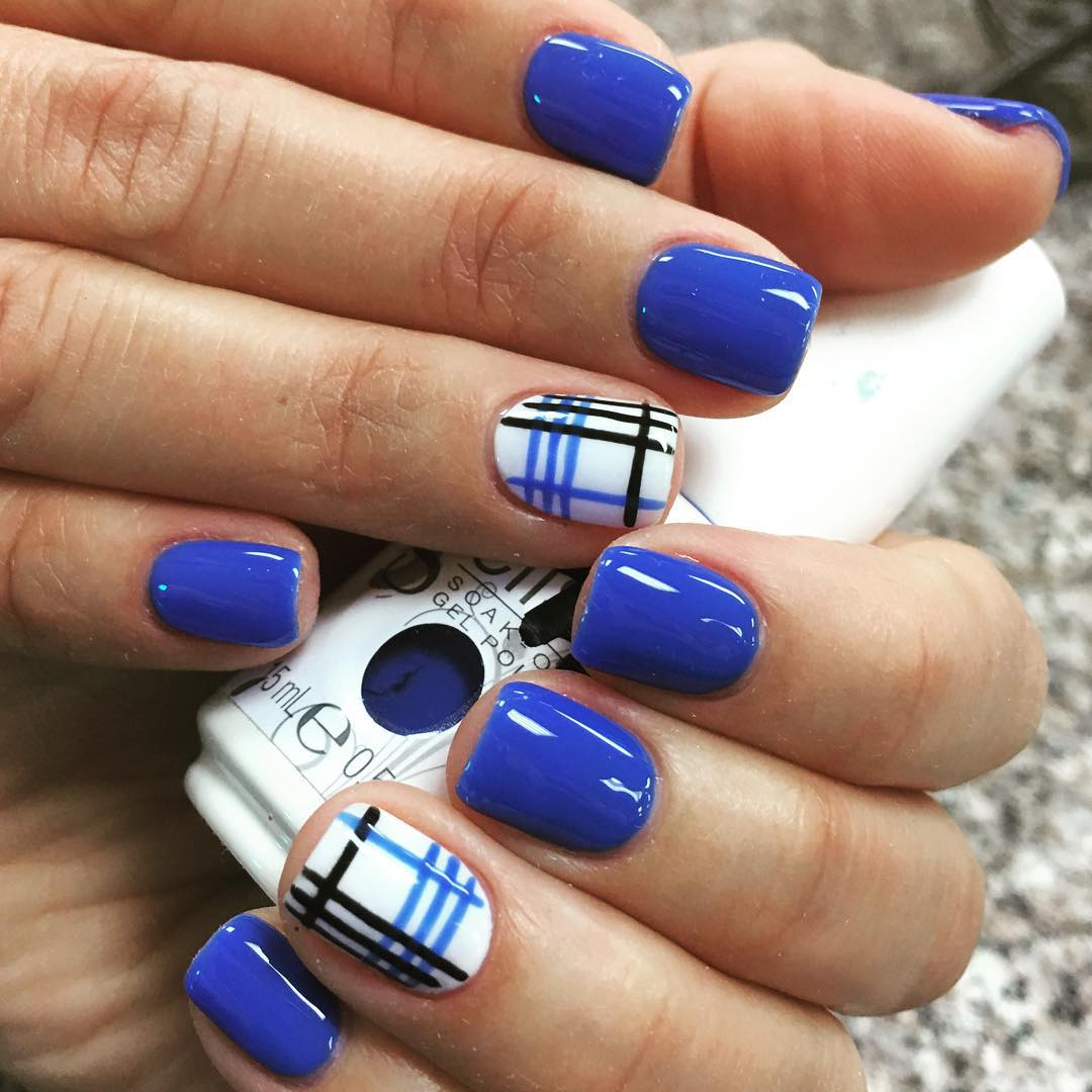 21 Royal Blue Nail Art Designs Ideas Design Trends Premium in Acrylic Nail Designs Royal Blue
