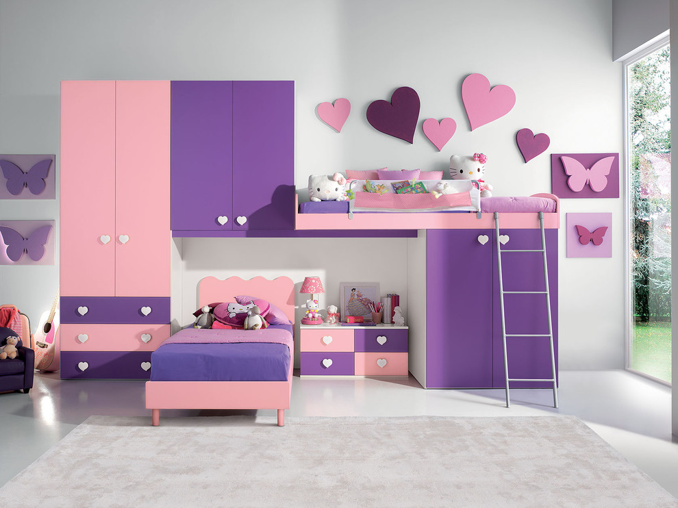 kids bunk beadroom furniture set