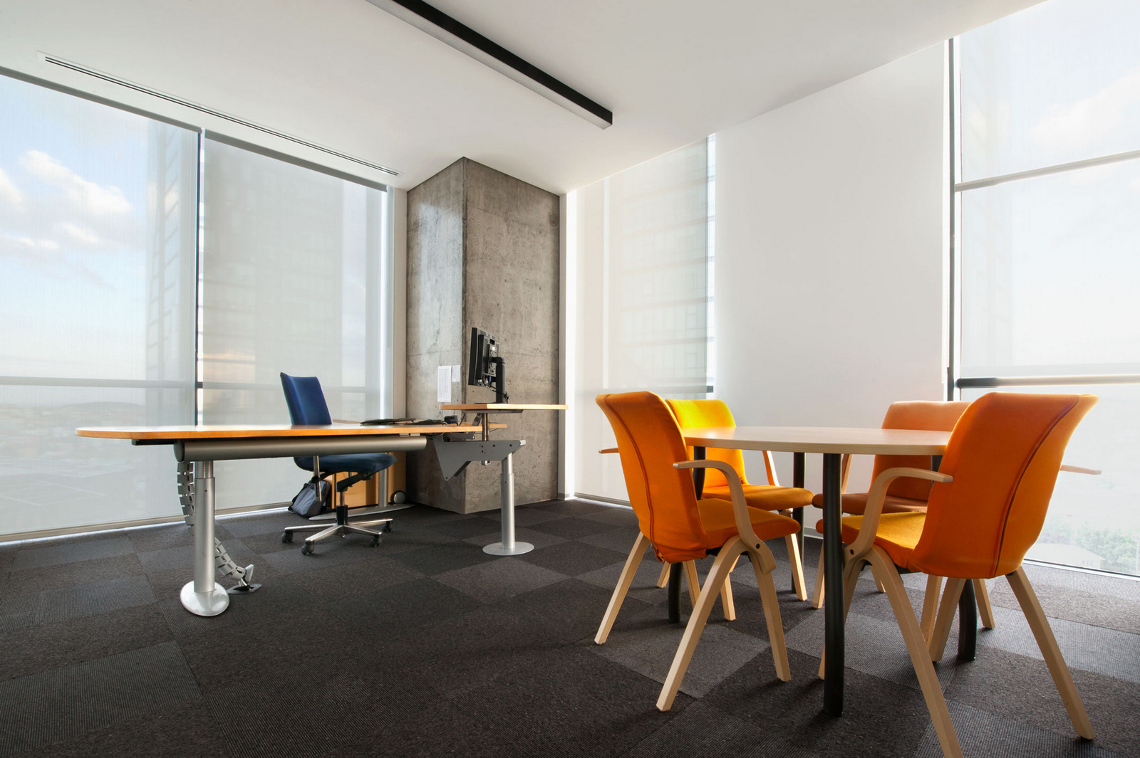 Yellow Chairs In Lundbeck Office