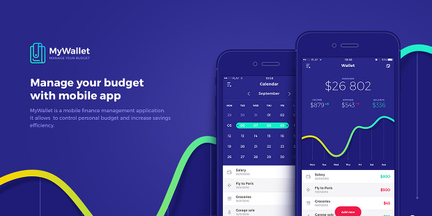 Mywallet Budget App UI Mobile Design