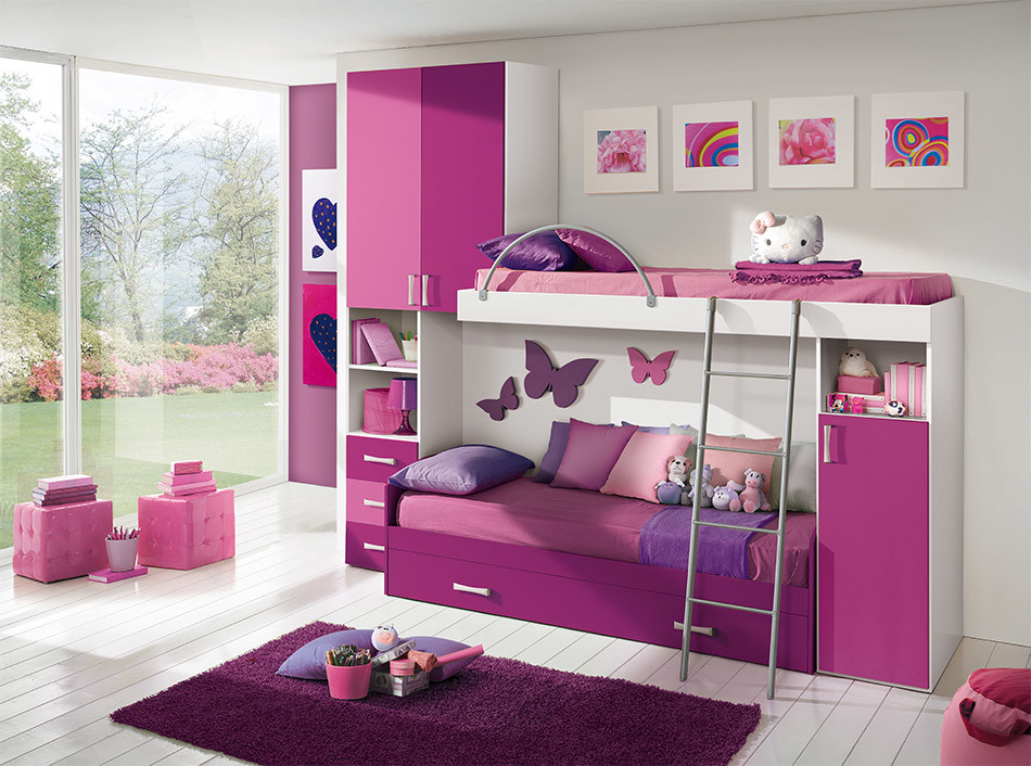 20 kid 39 s bedroom furniture designs ideas plans for Children bedroom designs girls