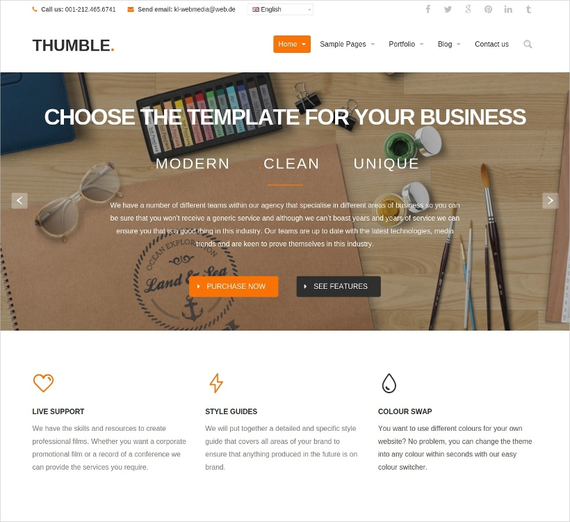 multi purpose portfolio business wordpress theme