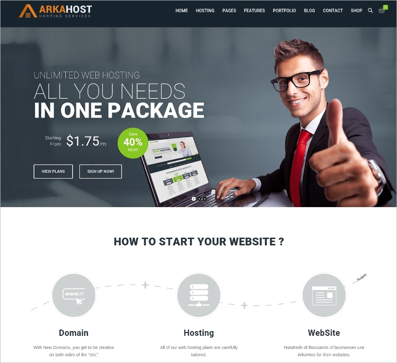 shop corporate wp theme