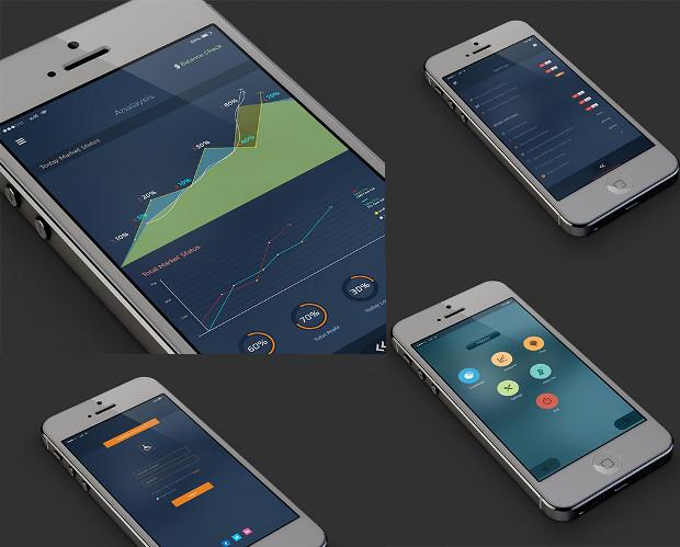 Market Status App UI Design