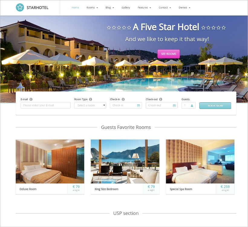 star hotel wordpress theme1