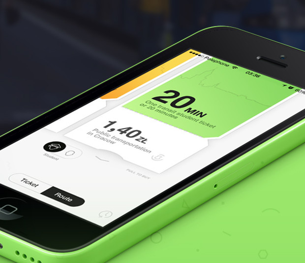 ticket app user interface design