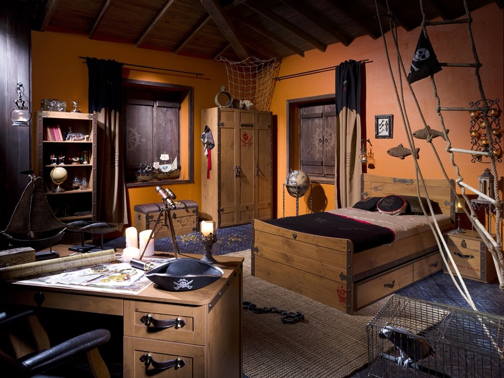 Nice Dark Pirate Kids Bedroom Furniture