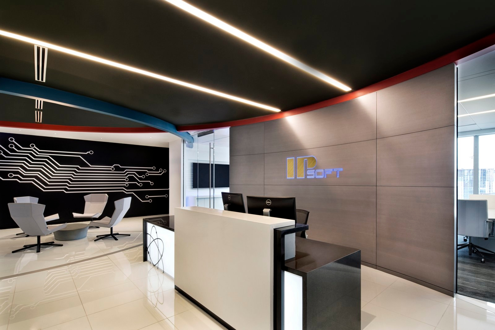 21 office ceiling designs decorating ideas design for Modern corporate office design
