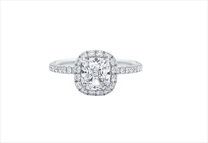 Harry Winston Vintage Cushion Cut Engagement Ring