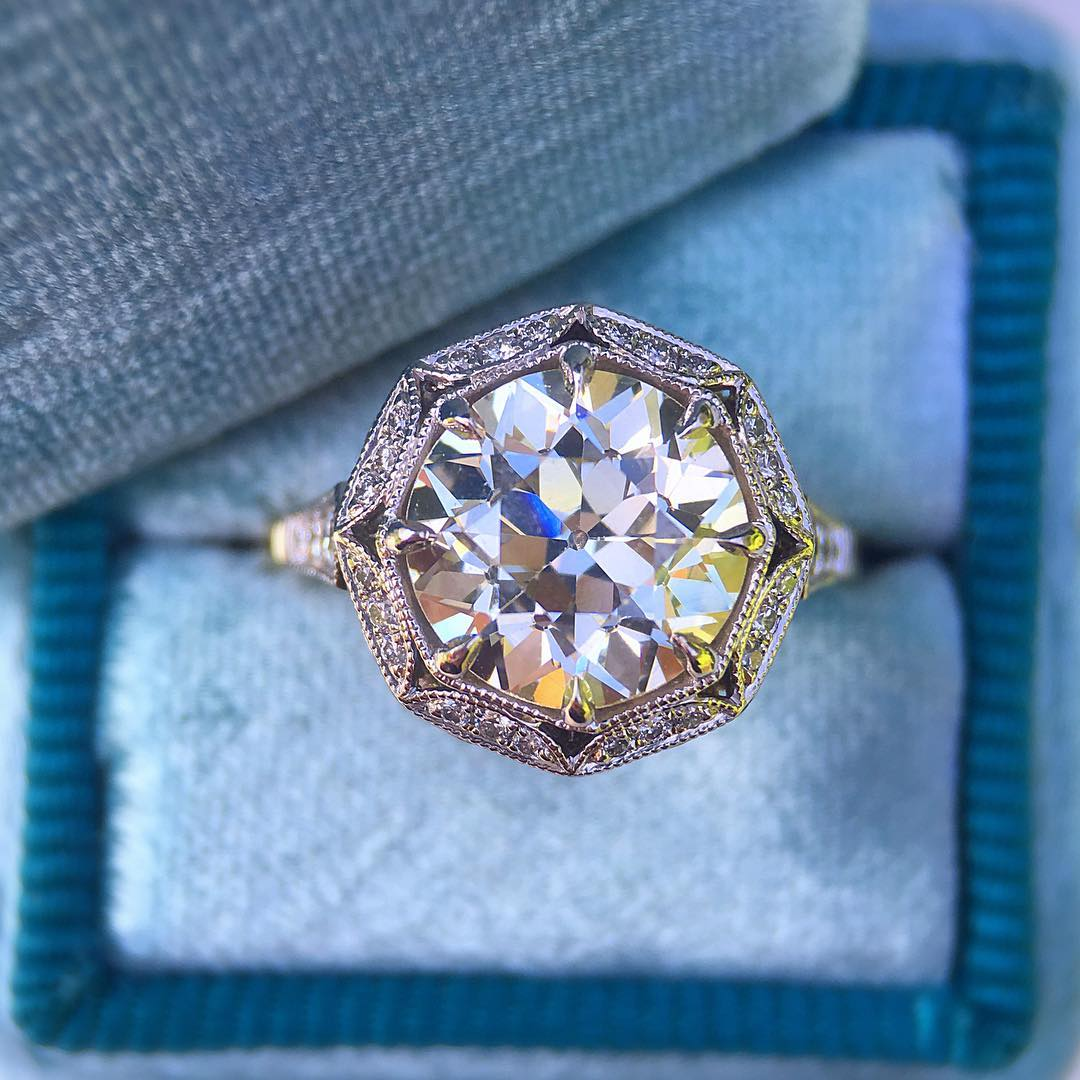 Vintage Unique Engagement Ring