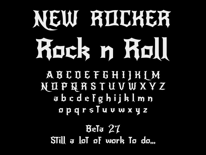 gothic heavy metal font