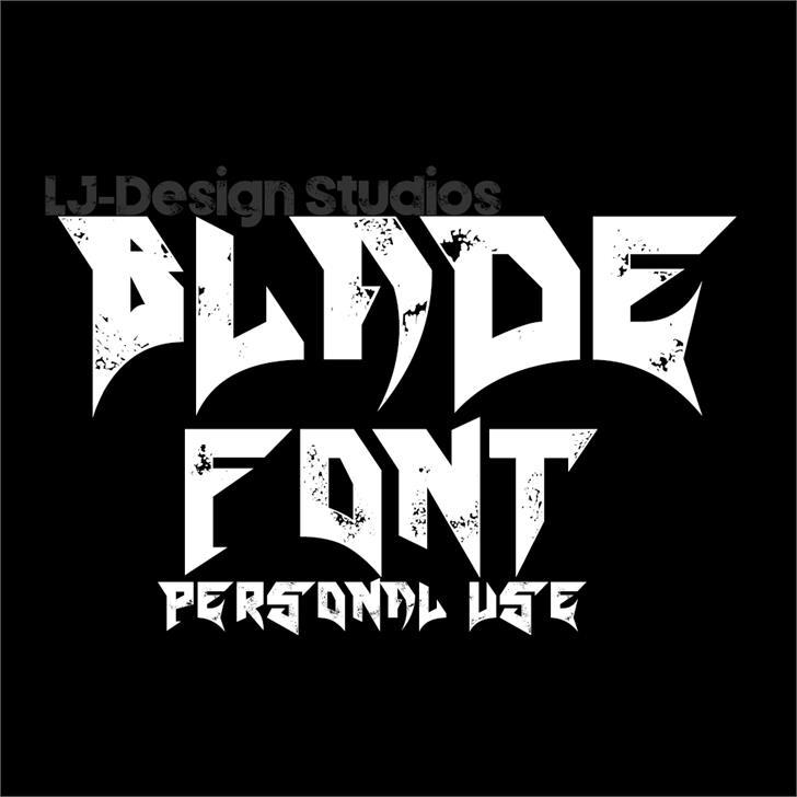 grunge heavy metal font