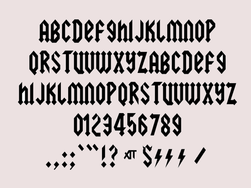 musical heavy metal font