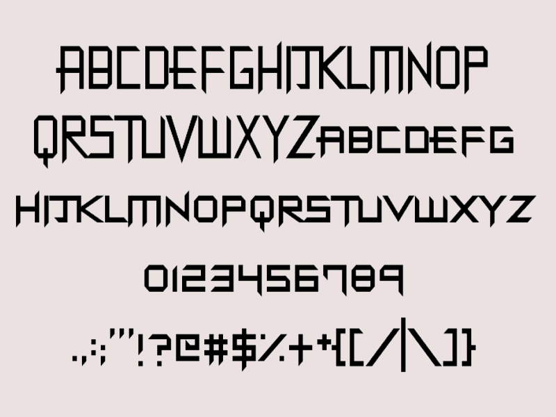 industrial metal font