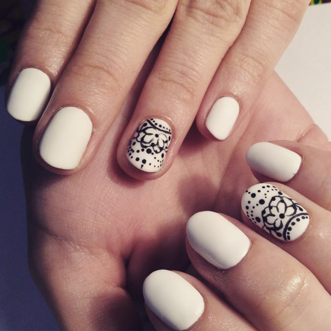Best White Nail Design for Women - 20+ White Nail Art Designs, Ideas Design Trends - Premium PSD