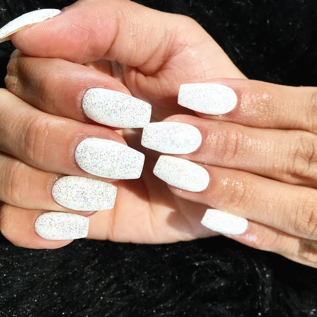 20 white nail art designs ideas design trends premium psd glitter nail art design prinsesfo Choice Image