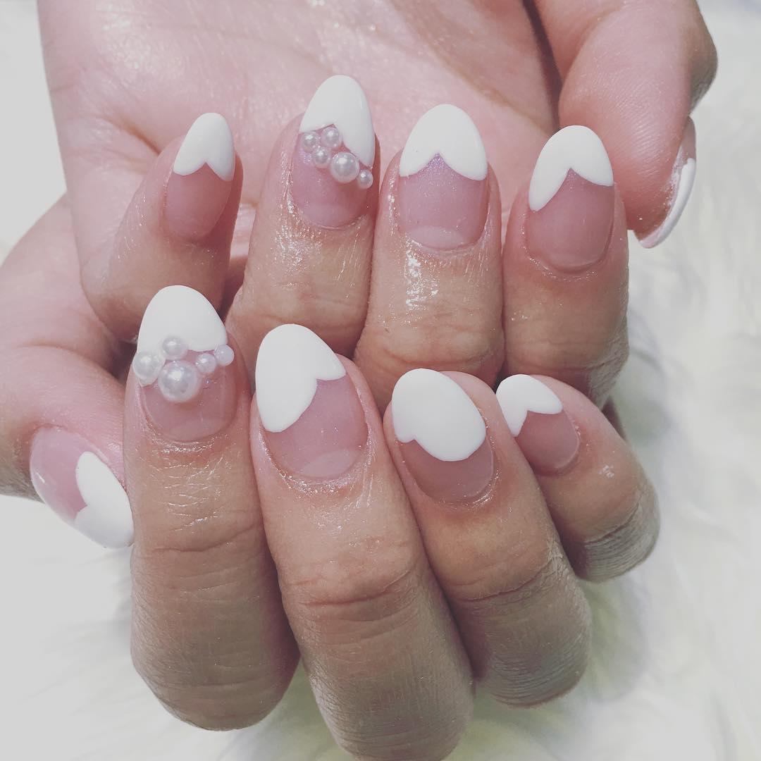 Pearls White Nail Art