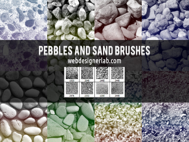 8 high resolution sand brushes