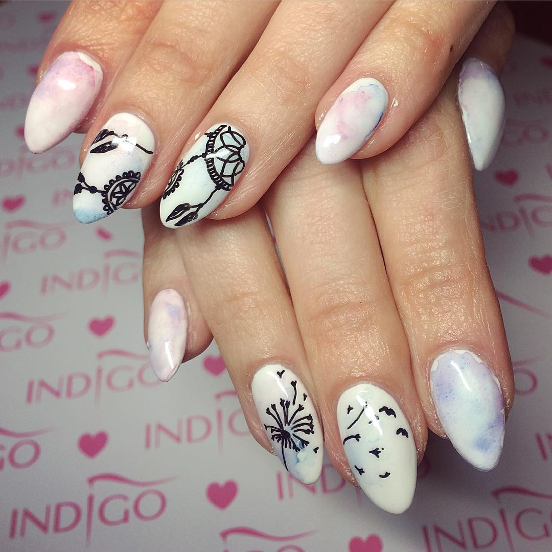Traditional White Nail Design