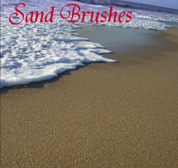 9 sand brushes photoshop