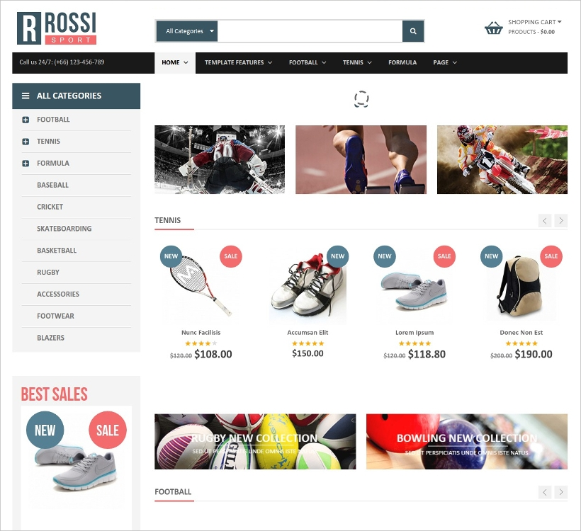 clean joomla virtuemart 3 template