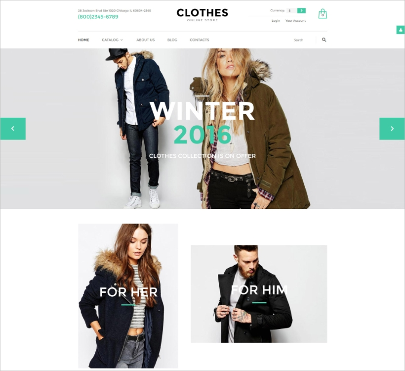 Clothing VirtueMart Template