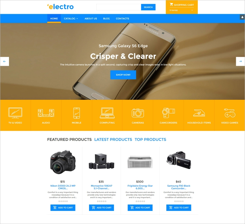 electronics store template
