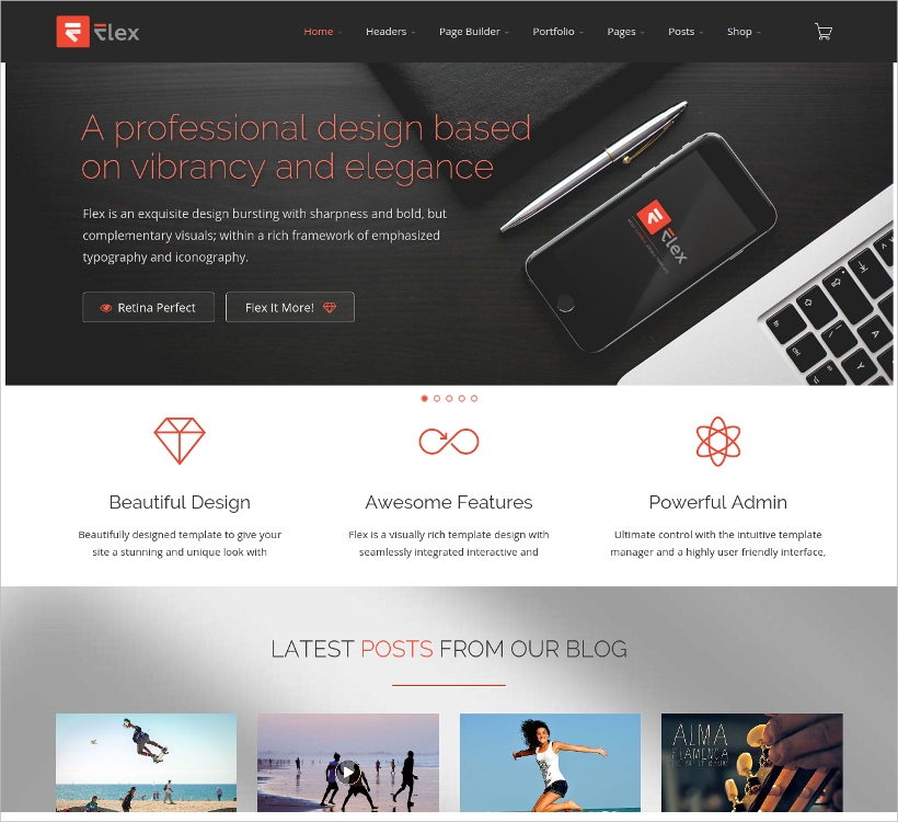 Flexible Vitruemart Joomla Template
