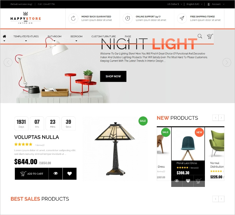 furniture interior joomla template
