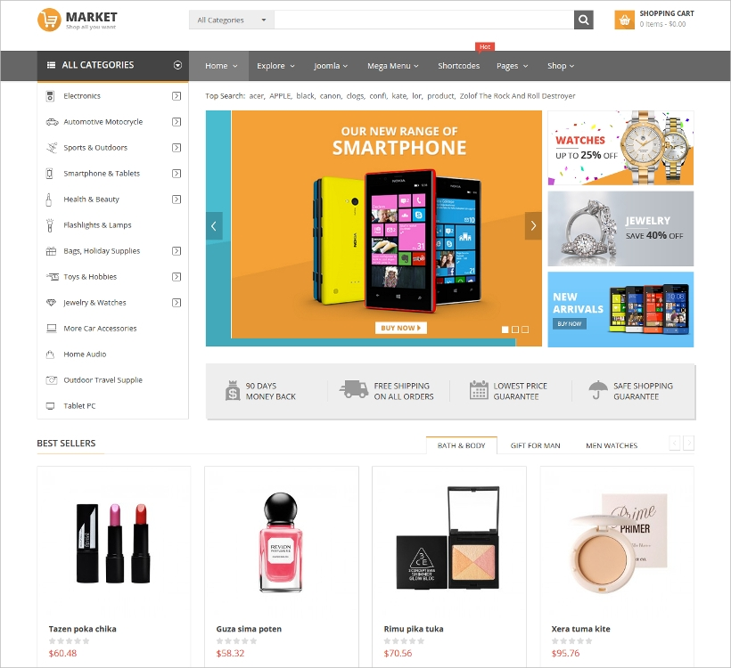 Responsive Multipurpose VirtueMart Template