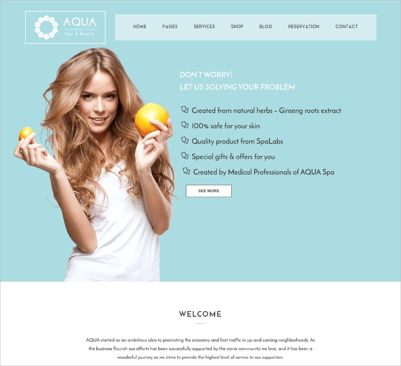 spa beauty joomla virtuemart template