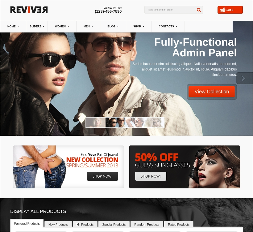 Virtuemart eCommerce Responsive Template