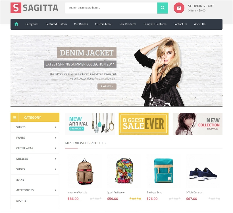 joomla virtuemart ecommerce template
