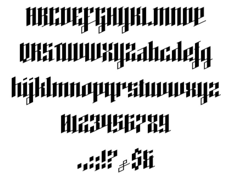 angled heavy metal font1